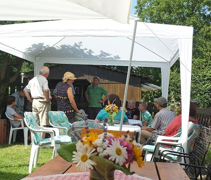 Sommerfest Imkerverein - Blumenschmuck