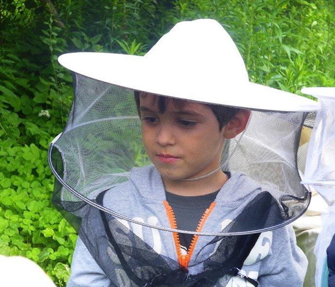 Besucher am Bienenstand 05