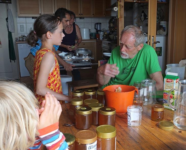 Honigernte Eckis Küche 1