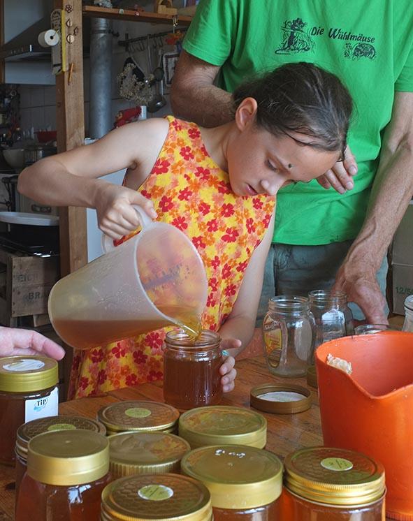 Honigernte Eckis Küche 2