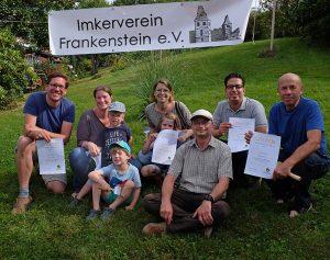 Sommerfest Imkerverein - Gruppenbild Neuimker 2 10x13s